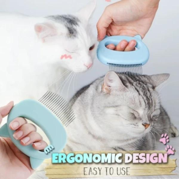 Pet Hair Removal Massaging Shell Comb - bginvention