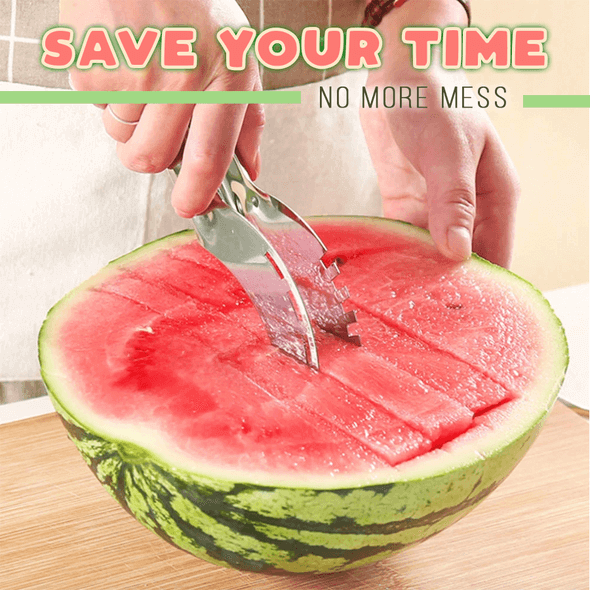 Stainless Steel Watermelon Cut Multi-function Slicer Cutter - bginvention