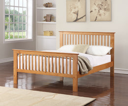 Howard Wooden Oak Finish Bed