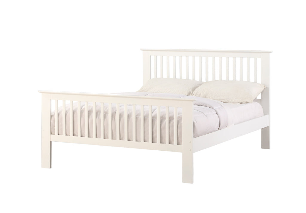 Howard White Wooden Bed Frame