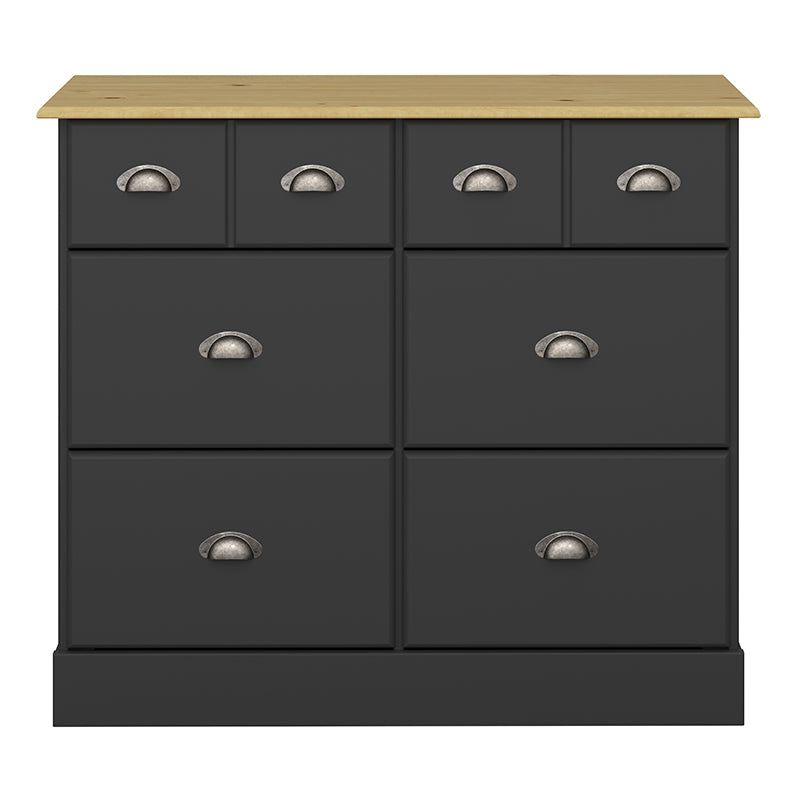 Jasmine Black & Pine 4+2 Wide Chest