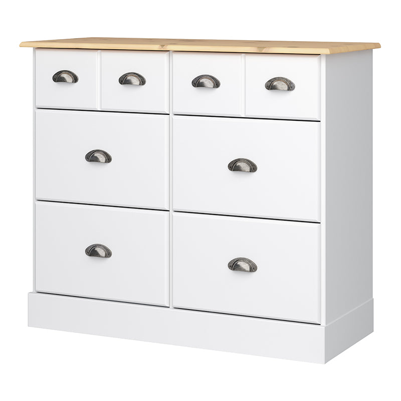 Jasmine White & Pine 4+2 Wide Chest