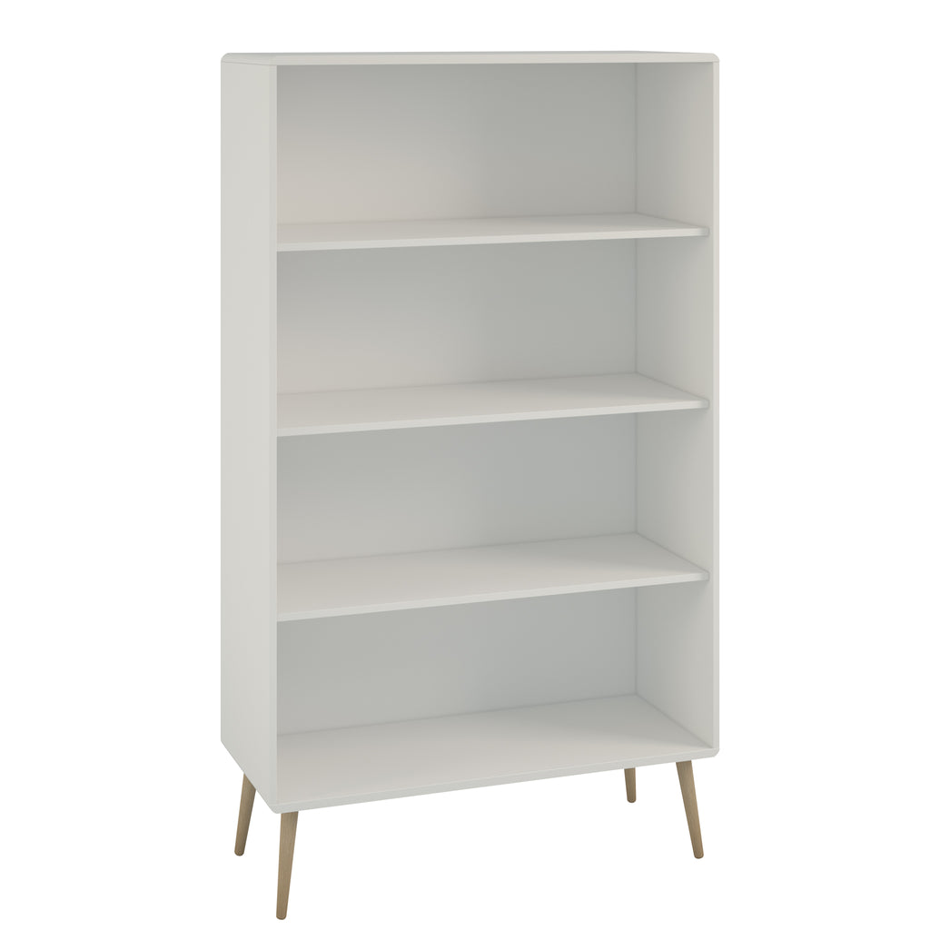 Gerbera Living - White Wide Bookcase
