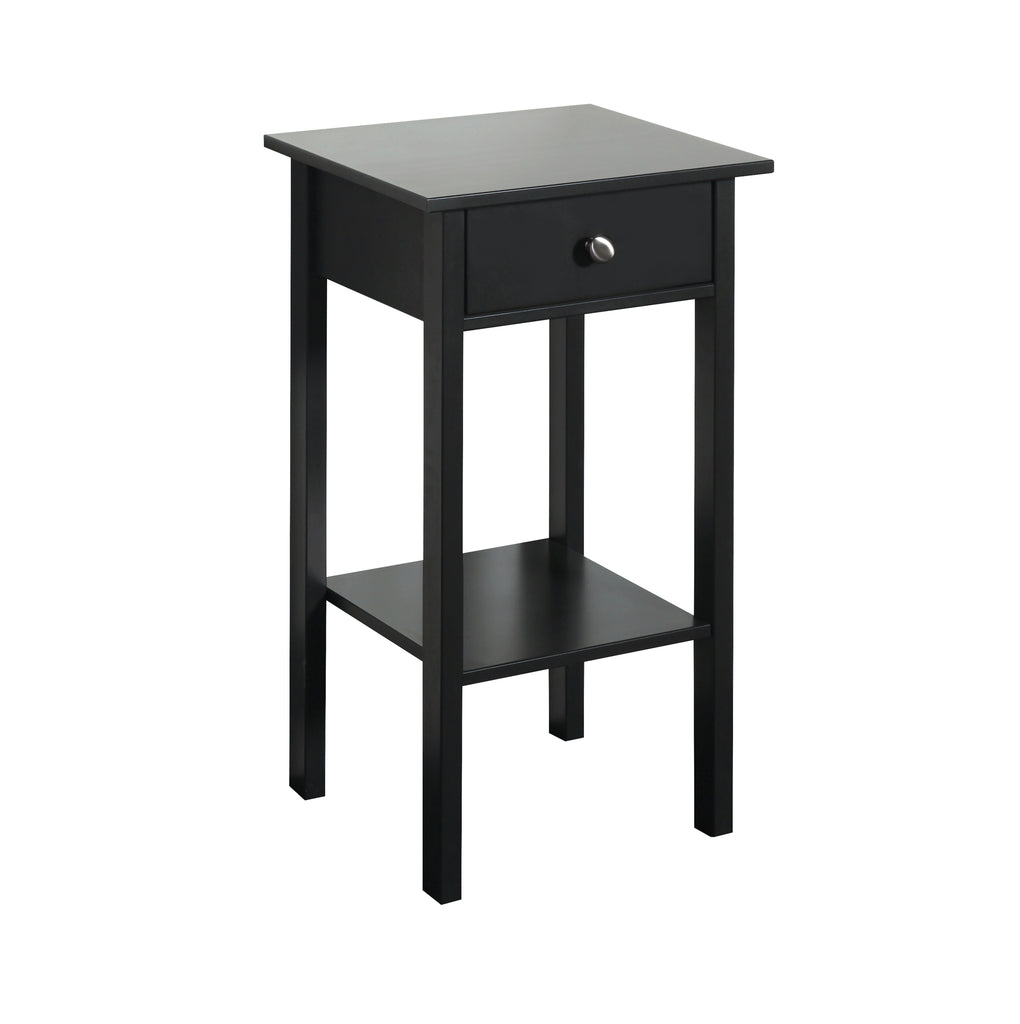 Orchid Black 1 Drawer Nightstand