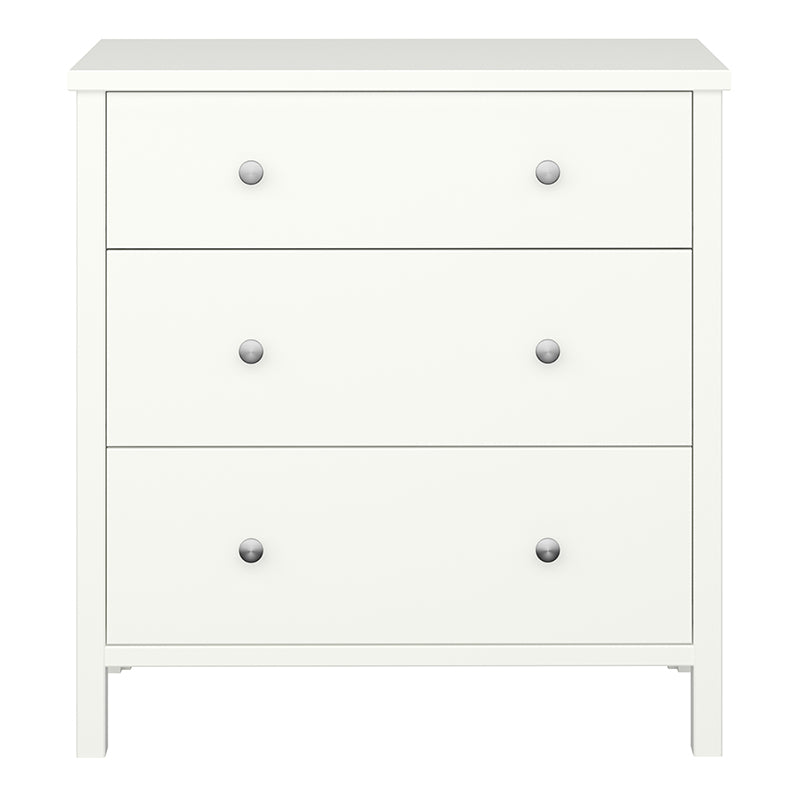 Orchid White 3 Drawer Chest