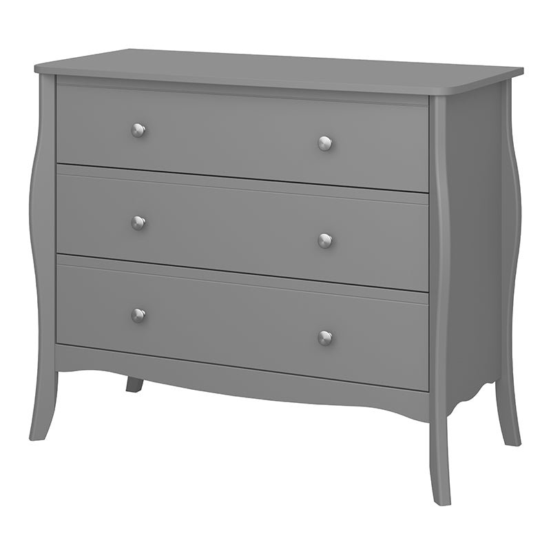 Rose Grey 3Drw Wide Chest