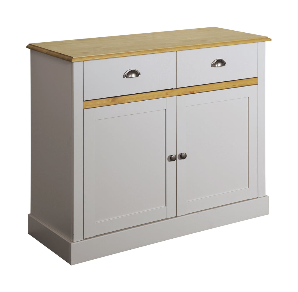 Tulip Living Grey & Pine 2 Door 2 Door Sideboard