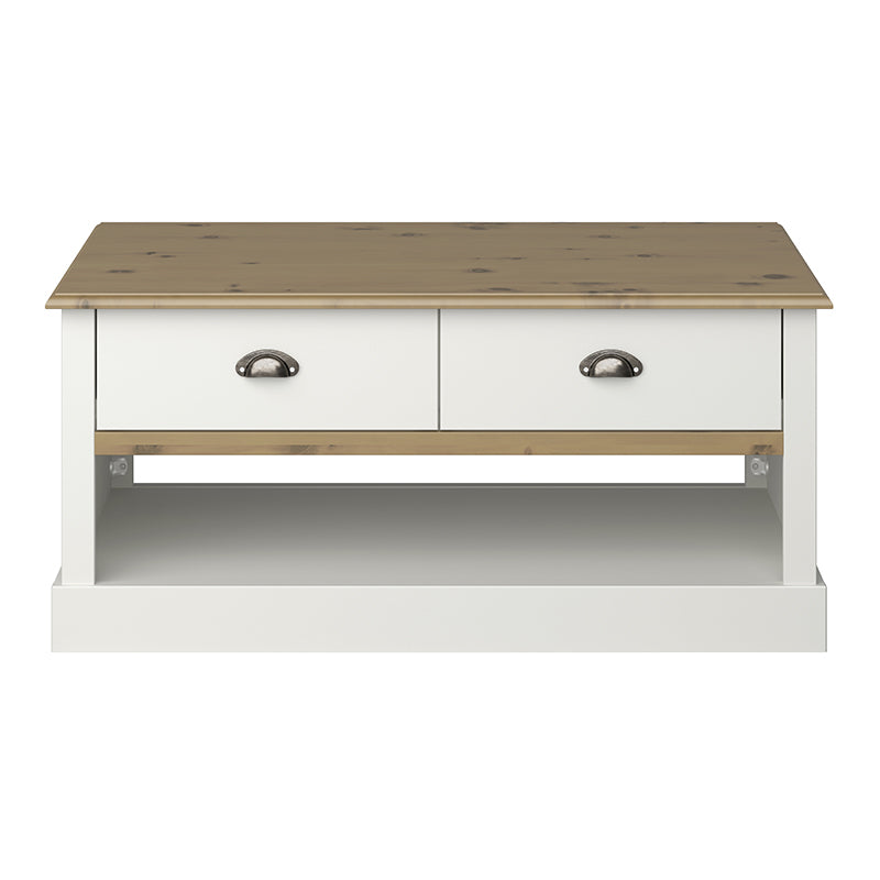 Tulip Living White & Pine Coffee Table