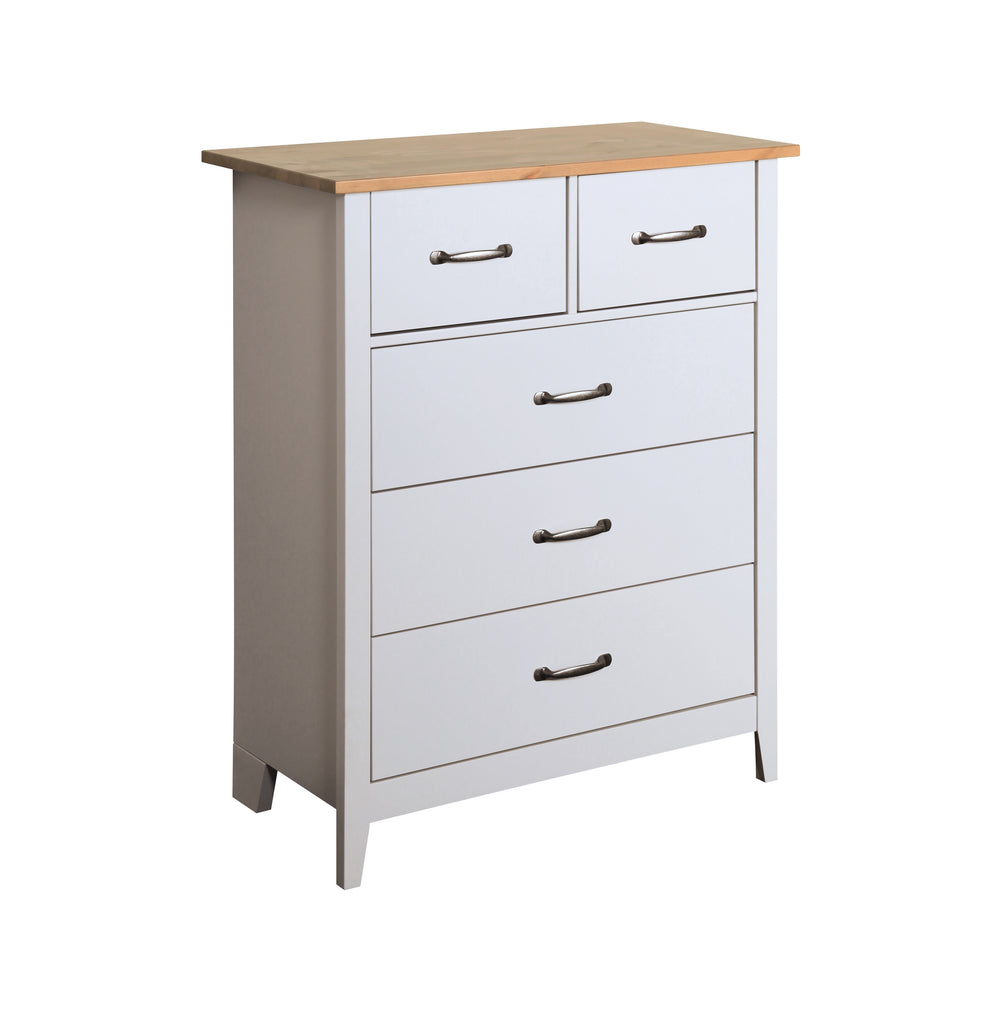 Daisy Grey & Pine 2+3 Drawer Chest