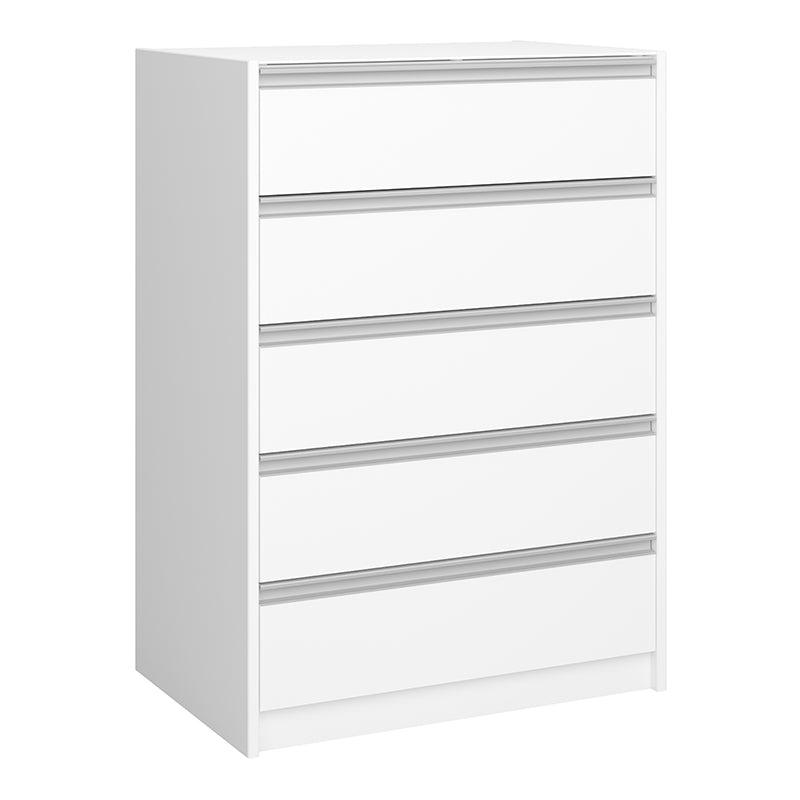 Lotus - White 5 Drawer