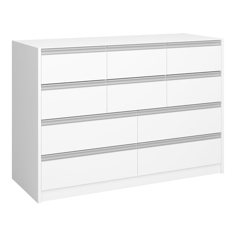 Lotus - White 4 + 6 Drawer