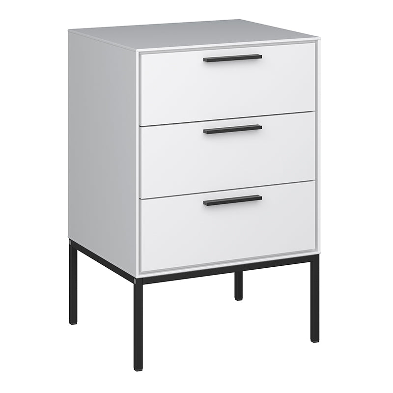Magnolia White 1Drawer 1 Door Bedside