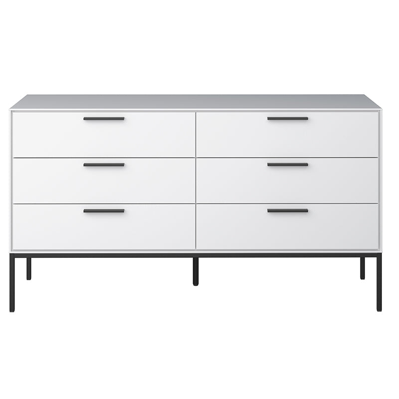 Magnolia White 3+3 Wide Chest