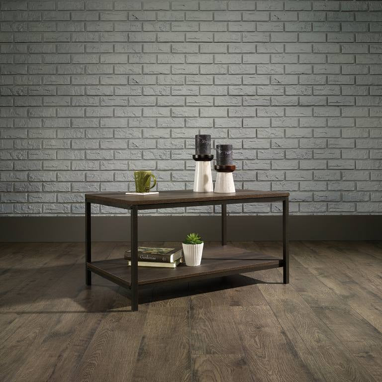 Industrial Style Coffee Table Smoked Oak
