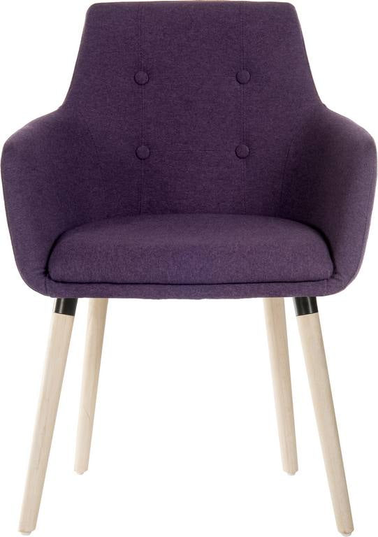 Four Legged Reception Chair (Plum)
