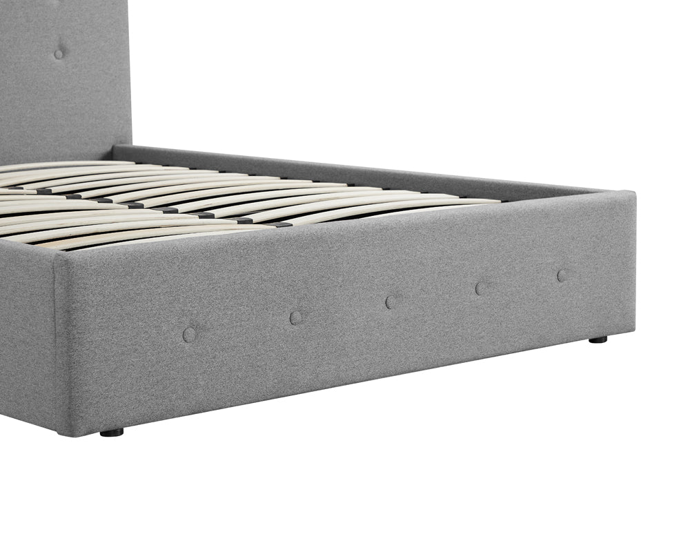 Paloma Wool Grey Storage Bed