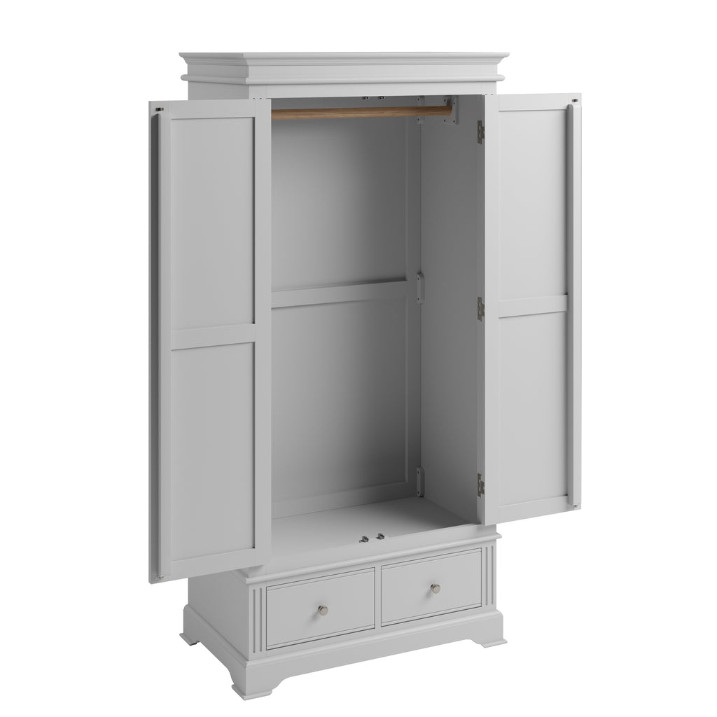 Paris 2 Door Wardrobe Grey