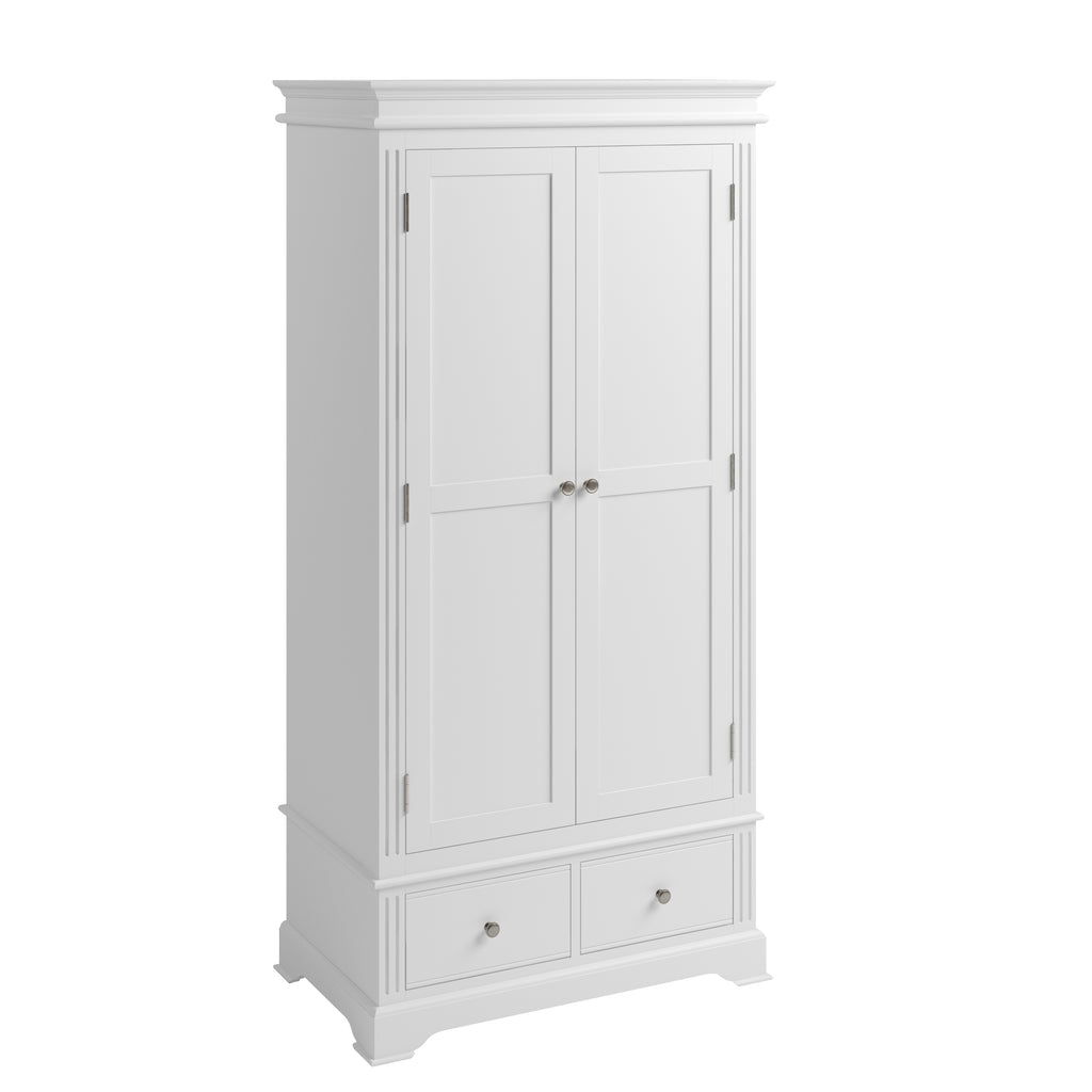 Paris 2 Door Wardrobe White