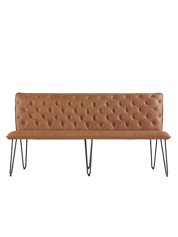 New York Studded back Bench Tan