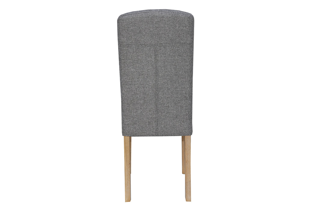 New York Button Back Upholstered Chair  Light Grey