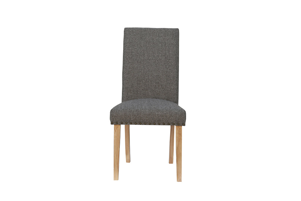 New York Straight back fabric chair  Dark Grey