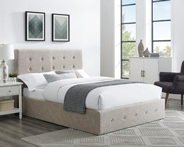 Chanel Cream Fabric Storage Bed
