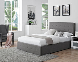 Chanel Grey Fabric Storage Bed