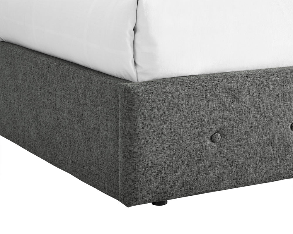 Chanel Grey Fabric Bed Frame