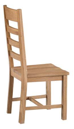 Sydney Ladder Back Chair Wooden Seat