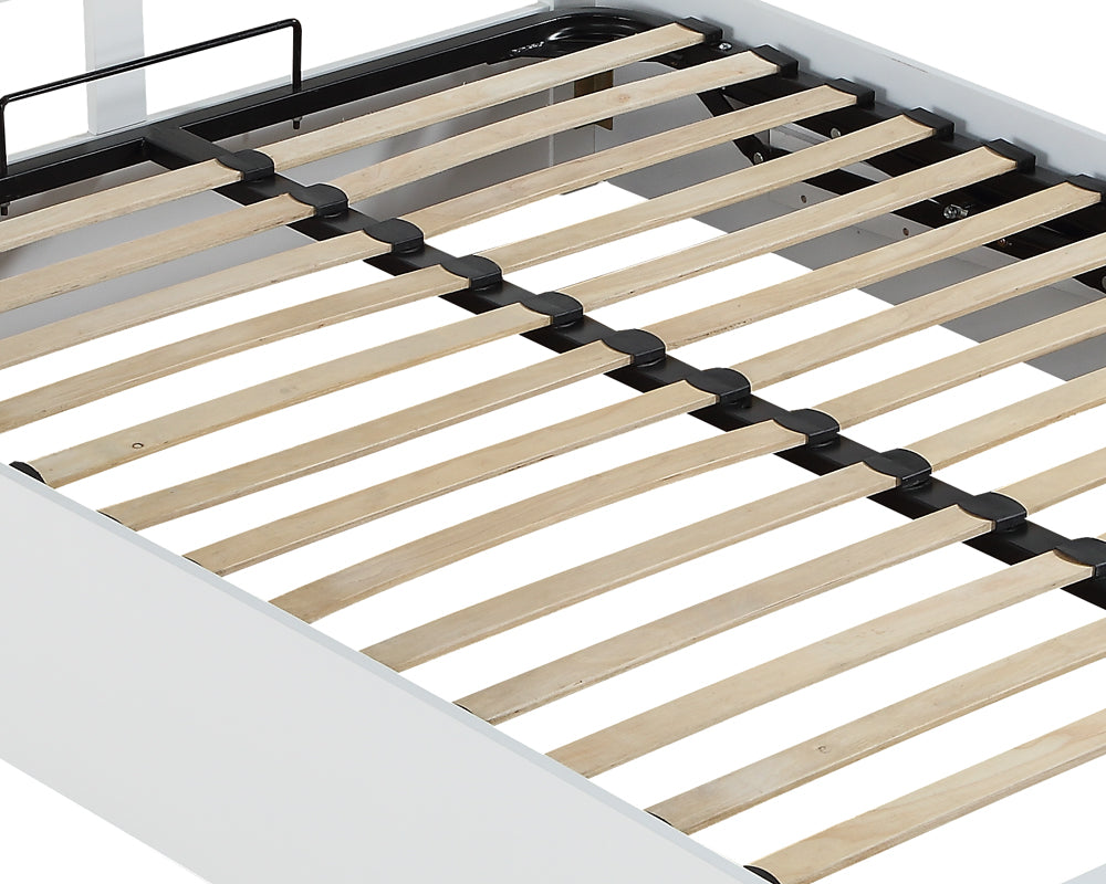 Cohiba White Wooden Storage Bed Frame