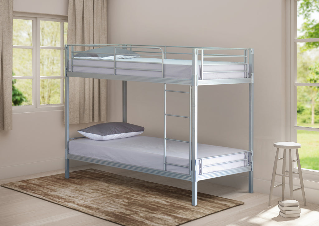 Easy Fix Silver Finish Bunk Bed