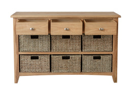 London 3 Drawer 6 Basket Unit