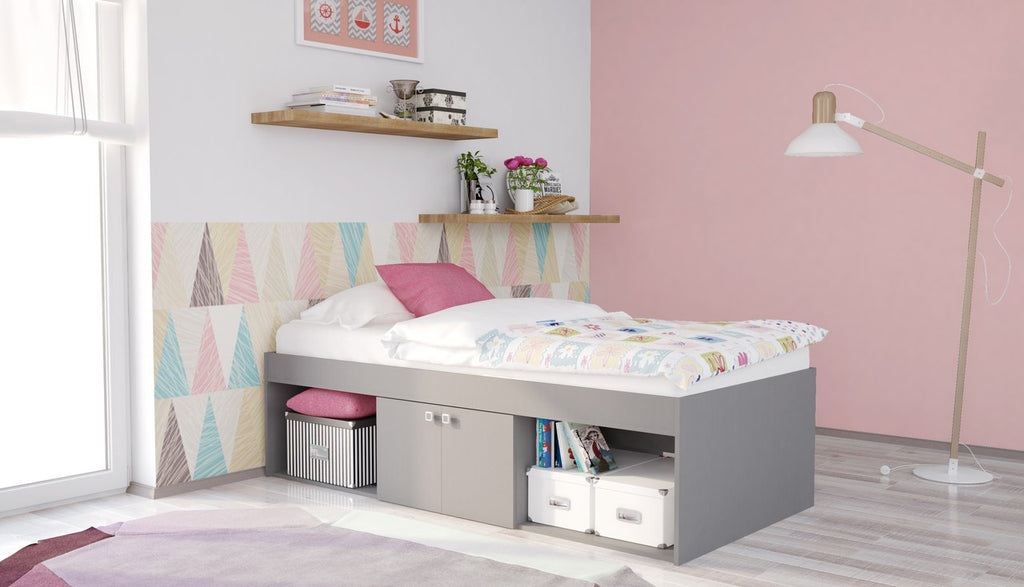 Low Single 3ft Cabin Bed GREY