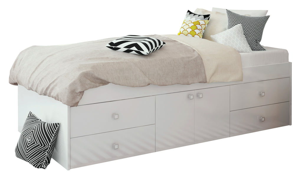 Captain's Single 3ft Cabin Bed WHITE