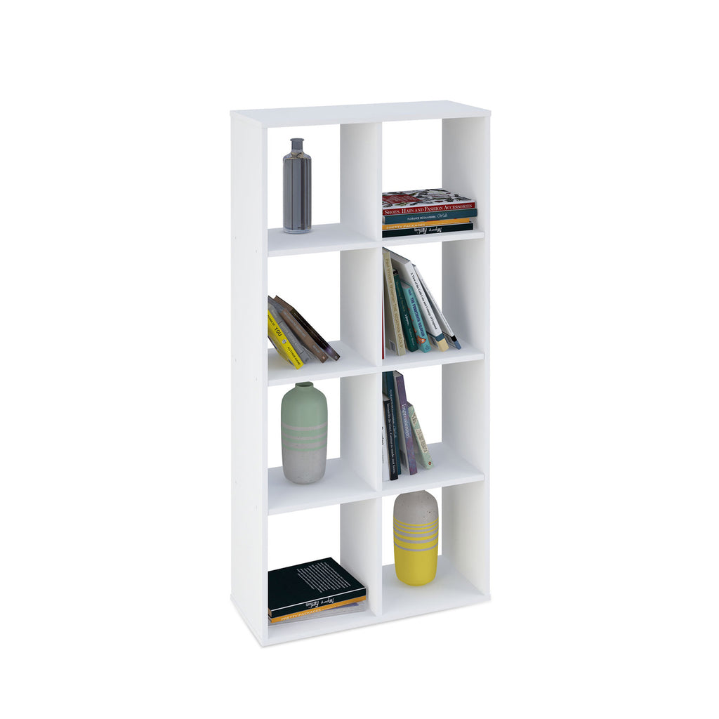 Smart 8 Cubic Section Shelving Unit - White