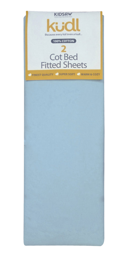 Cotbed 100% Cotton Fitted Sheets (2) Blue