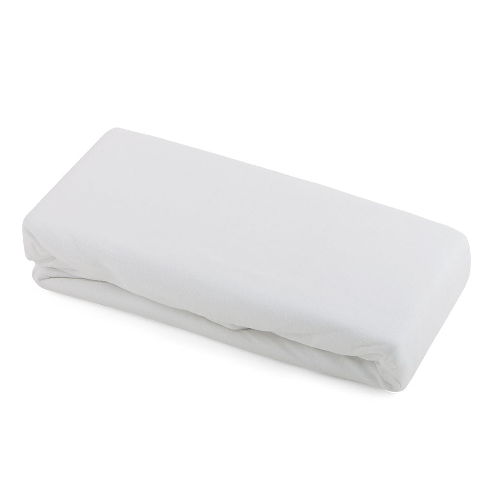 Cotbed 100% Cotton Fitted Sheets (2) White