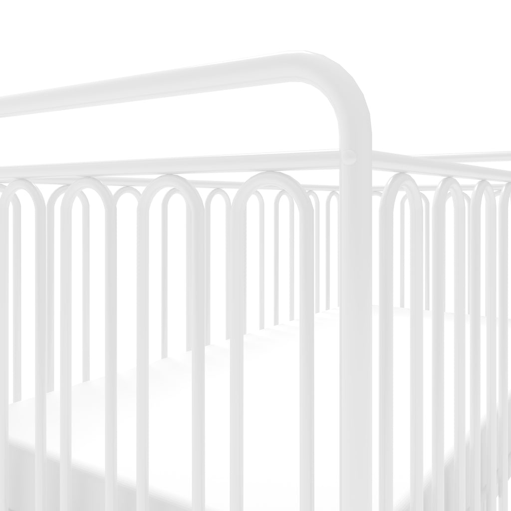 Kids Vintage Metal Baby Cot 150 - White
