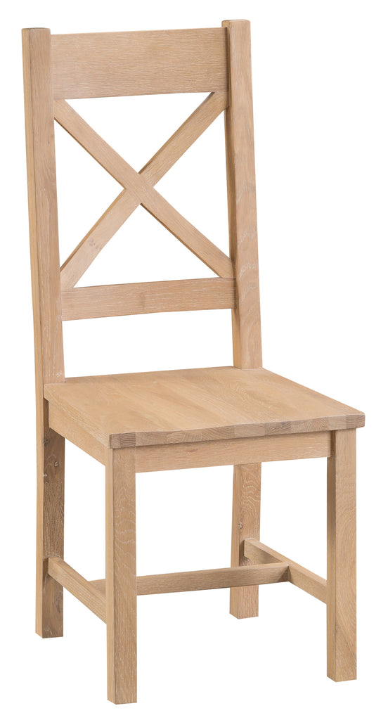 San Francisco Cross Back Chair Wooden Seat