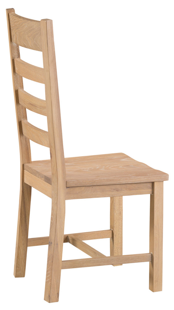 San Francisco Ladder Back Chair Wooden Seat