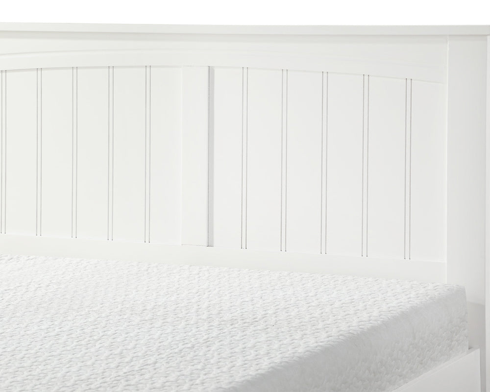 Lullaby White Wooden Bed Frame