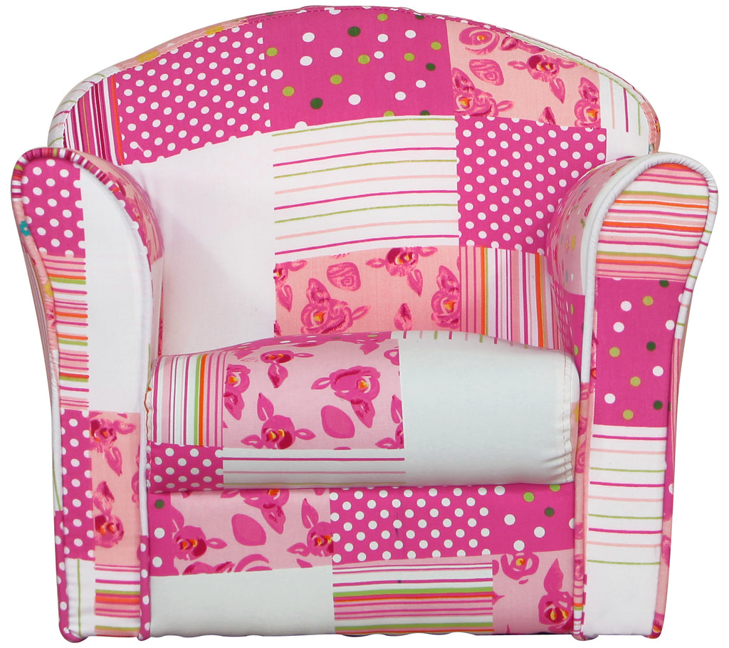 Mini Armchair Pink Patchwork