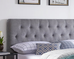 Marita Grey Fabric Upholstered Bed