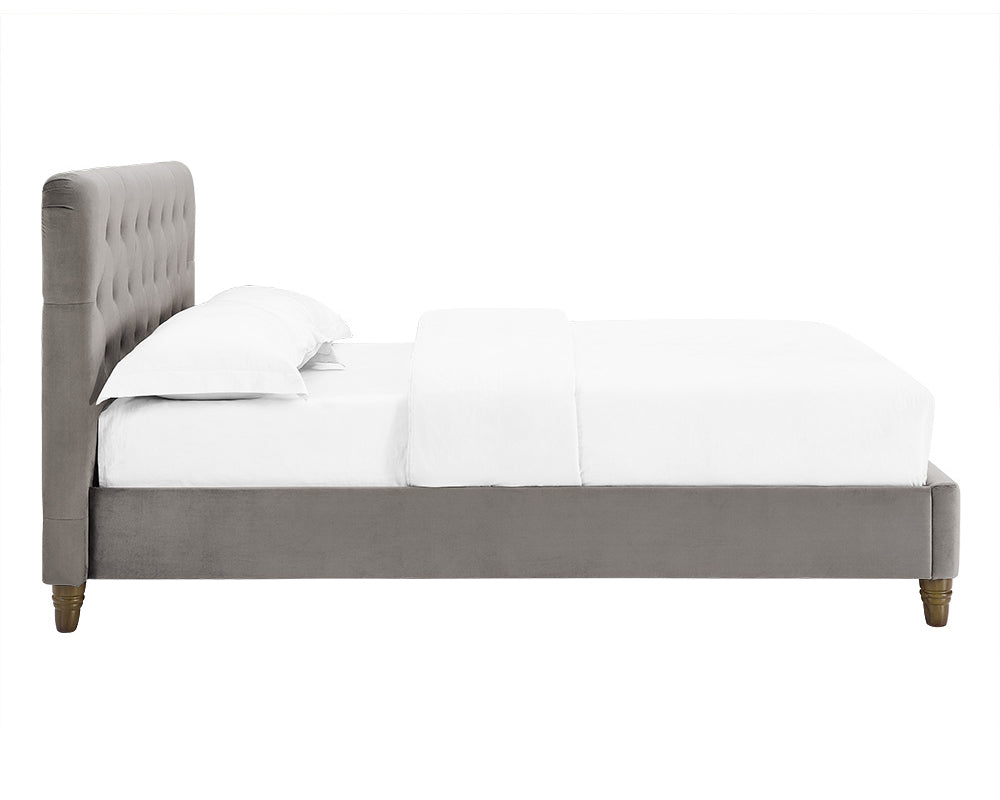 Marita Grey Velvet Upholstered Bed