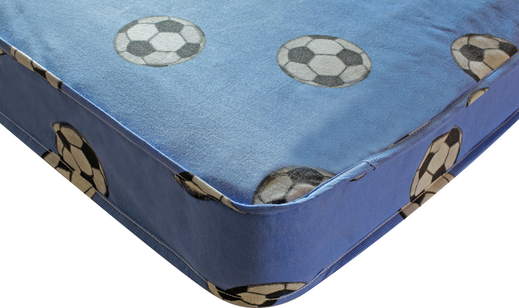 Football Single 3ft Mattress Blue