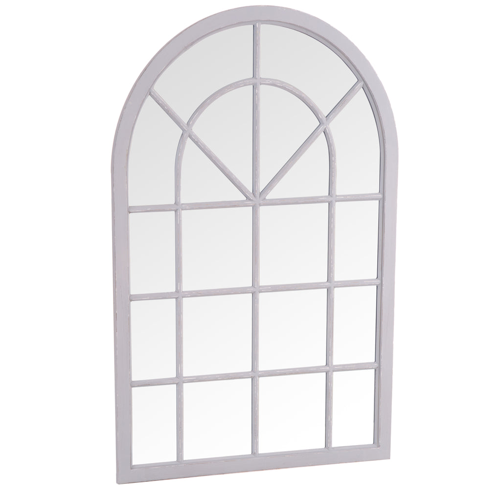 Bangkok Small Arched Window Mirror Grey