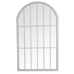 Bangkok Large Arched Window Mirror Grey