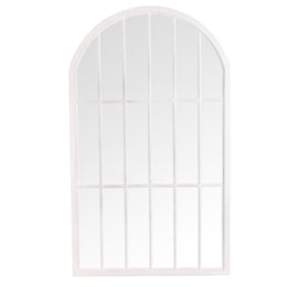 Bangkok Large Arched Window Mirror White