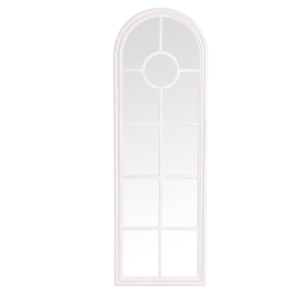 Bangkok Narrow Arched Window Mirror White