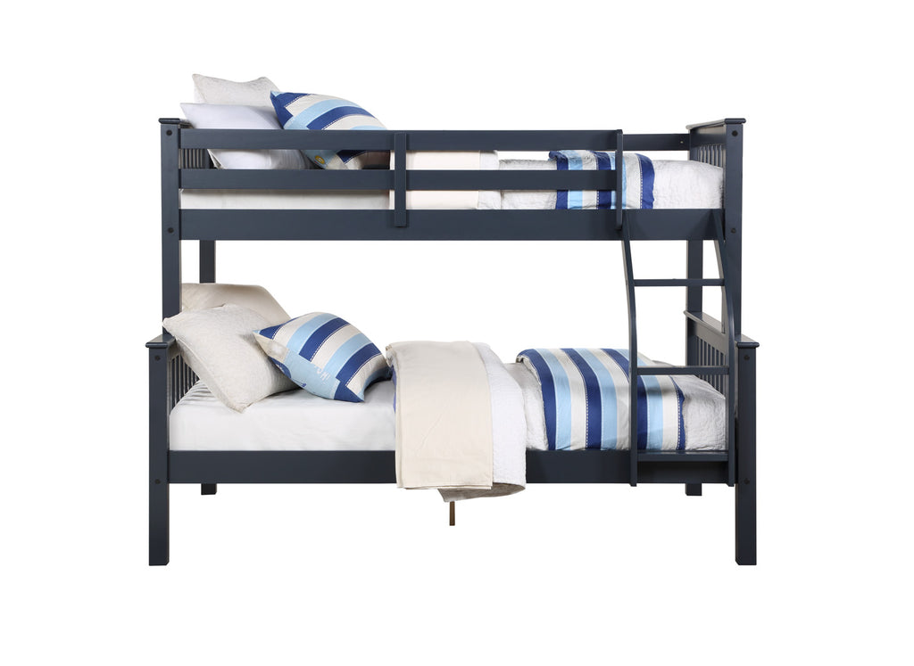 Novaro Black Wooden Triple Bunk Bed